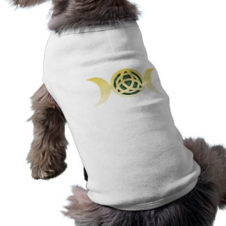 Triple Moon Triquetra Sleeveless Dog Shirt