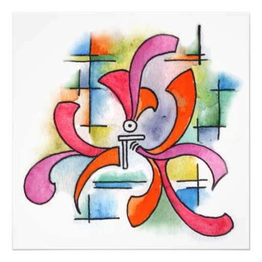 Triple Ornament - watercolor abstract painting Photographic Print