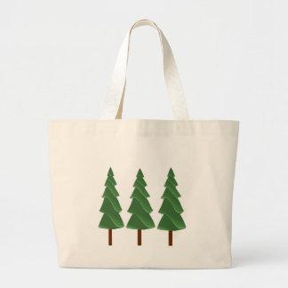Triple Pines Large Tote Bag
