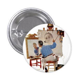 Triple Self-Portrait 3 Cm Round Badge