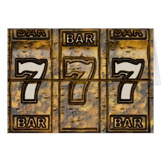 Triple Sevens Slot Machine Reels Card