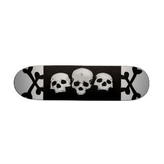 Triple Skull Sick Skateboard