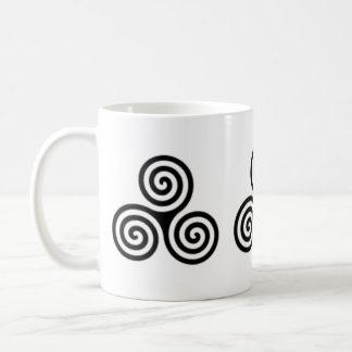 Triple Spiral Celtic Design Mug