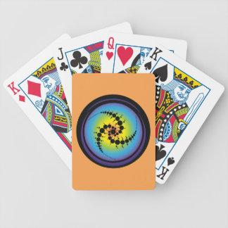 Triple Spiral Crop Circle Bicycle Playing Cards