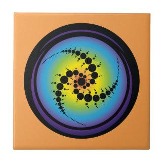 Triple Spiral Crop Circle Ceramic Tile