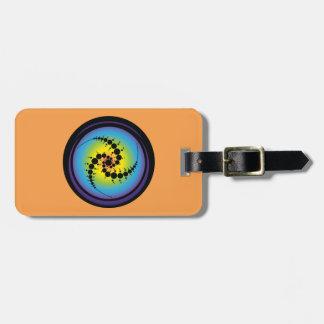 Triple Spiral Crop Circle Luggage Tag