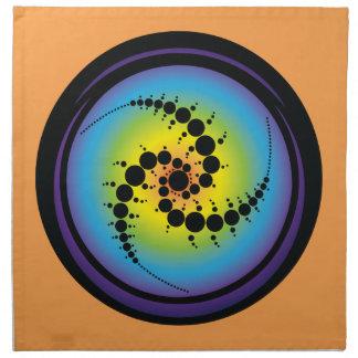 Triple Spiral Crop Circle Napkin