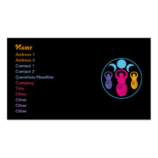 Triple Spiral Goddess Double-Sided Standard Business Cards (Pack Of 100)