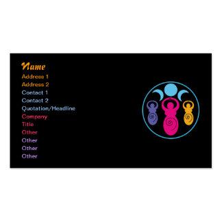 Triple Spiral Goddess Pack Of Standard Business Cards