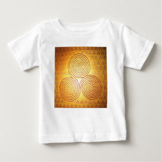 Triple Spiral Labyrinth Baby T-Shirt
