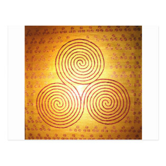 Triple Spiral Labyrinth Postcard