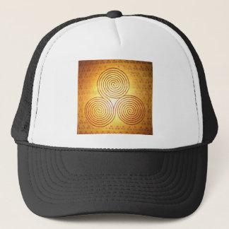 Triple Spiral Labyrinth Trucker Hat
