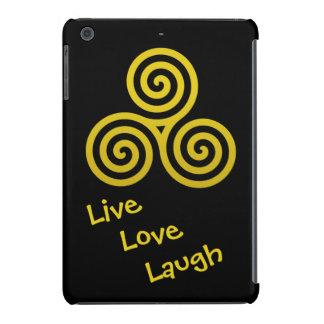Triple spiral Live Love Laugh Gold iPad Mini Cases