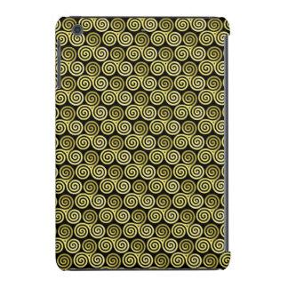 Triple spiral Live Love Laugh Gold pattern iPad Mini Retina Covers