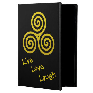 Triple spiral Live Love Laugh Gold Swirls