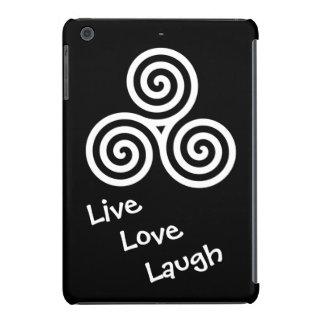 Triple spiral Live Love Laugh White iPad Mini Retina Cover