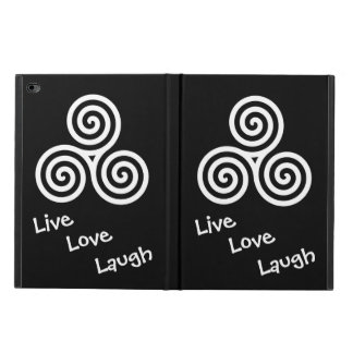 Triple spiral Live Love Laugh White Swirls