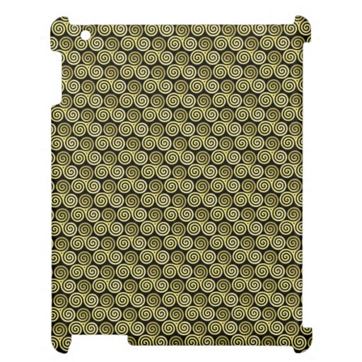 Triple spiral pattern cover for the iPad