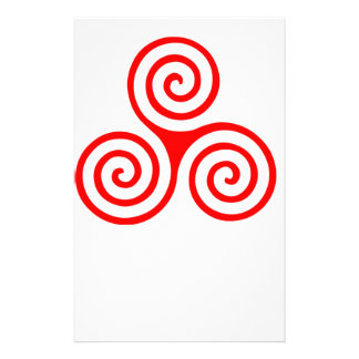 Triple Spiral Personalised Stationery