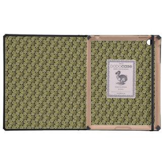 Triple spiral triskele Celtic Khaki Beige iPad Cover