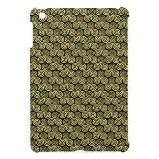 Triple spiral triskele Celtic Khaki Beige Cover For The iPad Mini