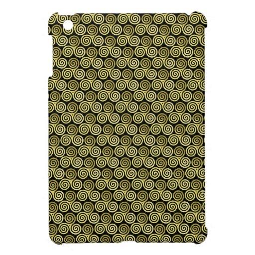 Triple spiral triskele Celtic Khaki Beige iPad Mini Cases