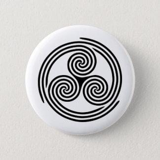 Triple Spiral Triskelion 6 Cm Round Badge