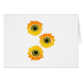 Triple Sunflowers Card