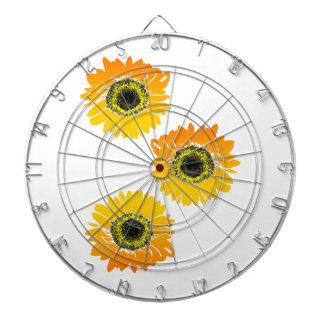 Triple Sunflowers Dartboard