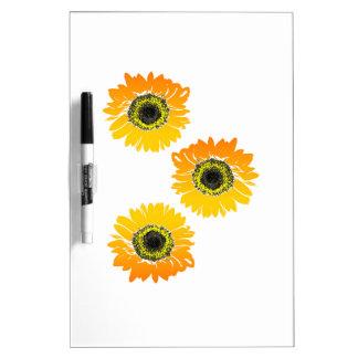 Triple Sunflowers Dry Erase Board