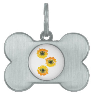 Triple Sunflowers Pet Name Tag