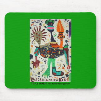 Triple Threat by Brian Dodd Mouse Pad