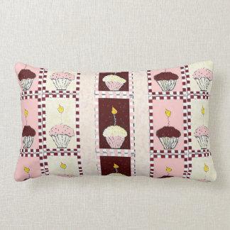 Triple Threat Cupcake Lumbar Cushion