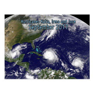 Triple threat: hurricanes Katia, Irma and Jose Postcard