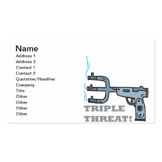 Triple Threat Pack Of Standard Business Cards