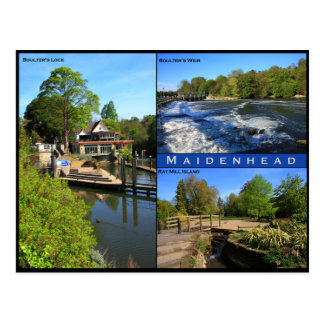 Triple view postcard of Maidenhead