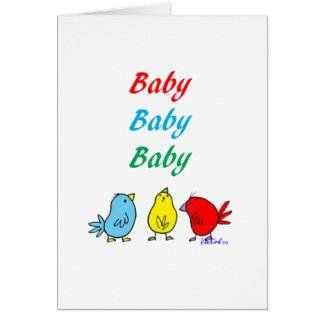 Triplet Birth Greeting Card