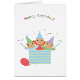 Triplet Birthday Card