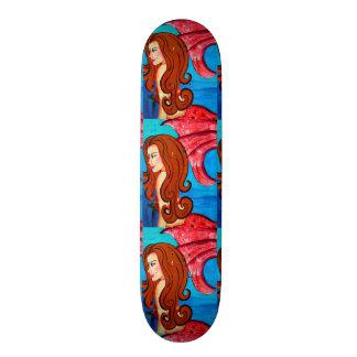 triplet redheaded mermaids skateboard