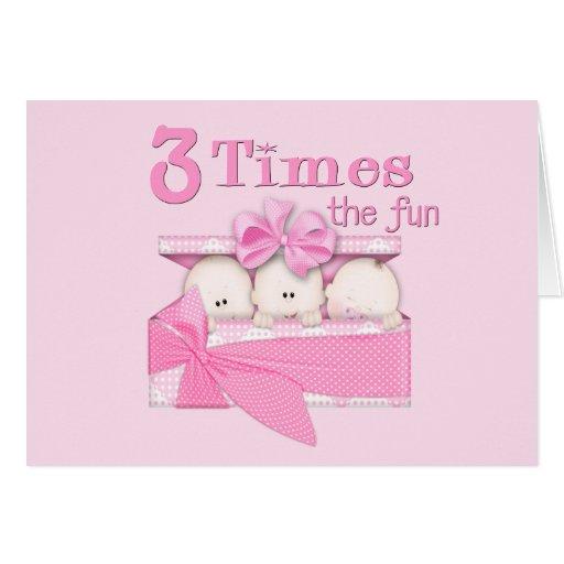 Triplets Greeting Card