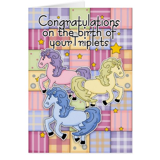 Triplets, Congratulations Birth Of Triplets - Thre Cards