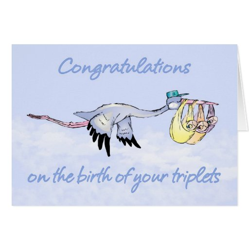 Triplets, Congratulations Birth Of Triplets - Thre Greeting Card