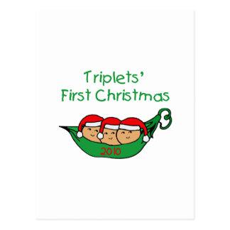 Triplets Pod Ornament 2010 Postcard