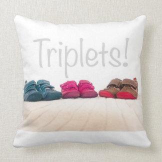 Triplets throw cushion