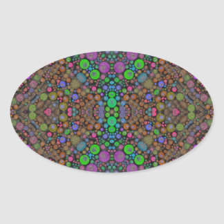 Triply Abstract Oval Sticker