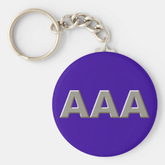 Tripolarize AAA Basic Round Button Key Ring