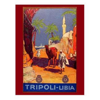 Tripoli, Libya, Africa Travel Vintage Postcard