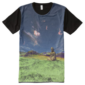 Trippin' It With Buddha All-Over Print T-Shirt