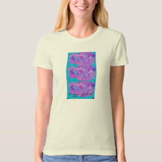 tripping Purple Pansies T-Shirt