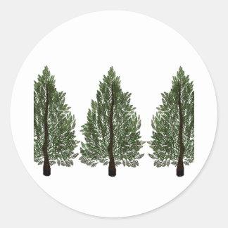 Tripple Pines Classic Round Sticker